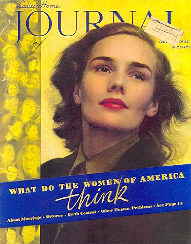 Frances Farmer on Ladie's Home Journal, What Do Women of America Think. Good question to ask Ms. Farmer