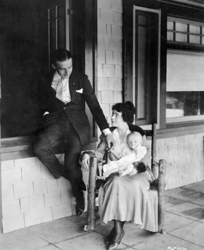 Wallace Reid and Dorothy Davenport with son Billy 1917