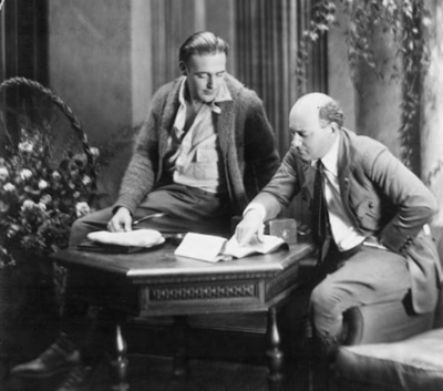 Wallace Reid and Cecil B. DeMille 1918 or 1919
