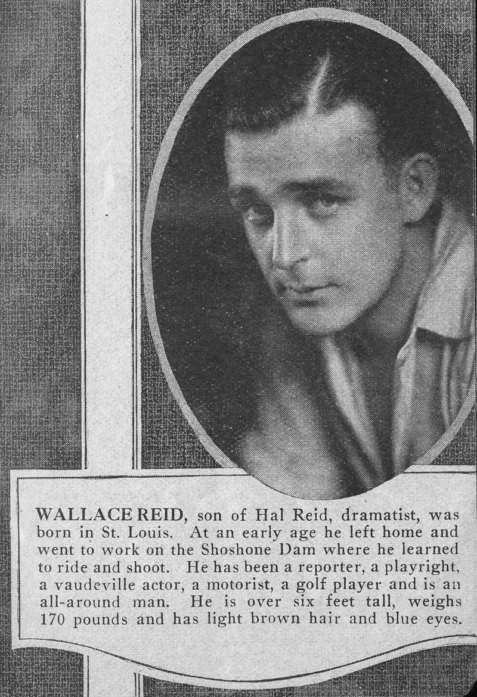 Wallace Reid bio snippet