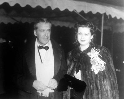 Walter Wanger with wife Joan Bennett