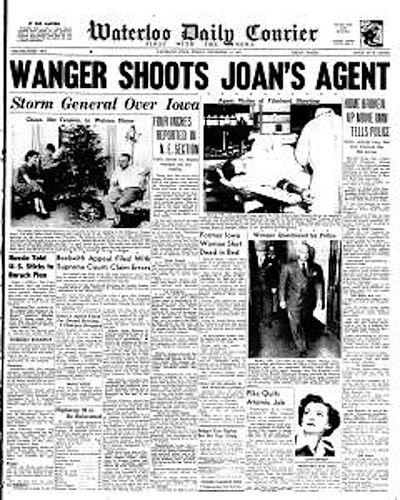 Wanger shoots joans agent