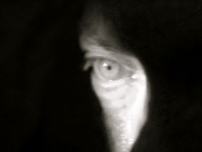 Udo Kier eye photo by Kim Morgan