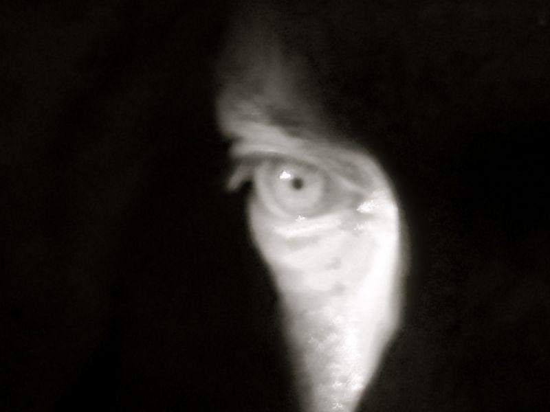 Udo Kier eye photo by Kim Morgan