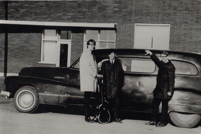 Young with hearse in Winnipeg